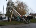 listopad 2009 - Martinské hody, stavění máji
