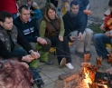 říjen 2012 - Táborák s dýňovými strašidýlky