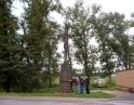 říjen 2013 - Oprava kříže na ul. Krhovické