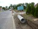 červen 2014 - zatrubnění příkopy na ul. Krhovické